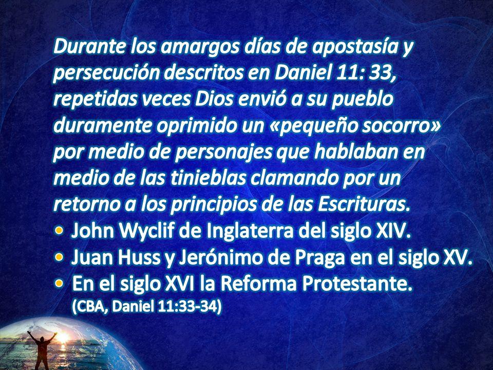 John Wyclif de Inglaterra del siglo XIV.