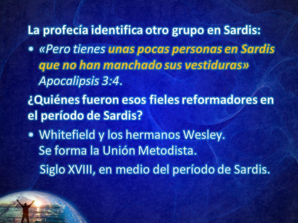 La profecía identifica otro grupo en Sardis: