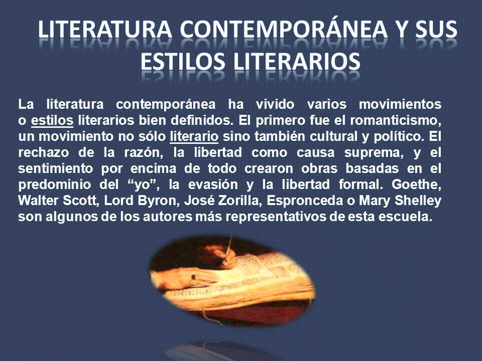 Literatura contemporánea y sus
