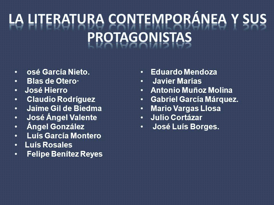 La literatura contemporánea y sus