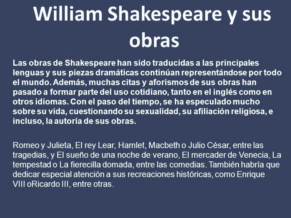 William Shakespeare y sus