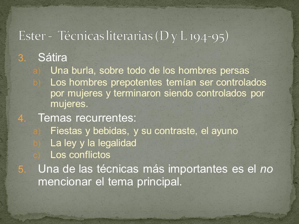 Ester - Técnicas literarias (D y L 194-95)
