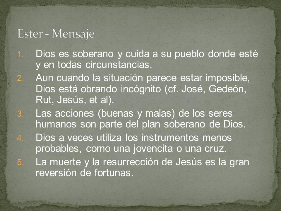 Ester - Mensaje Dios es soberano y cuida a su pueblo donde esté y en todas circunstancias.