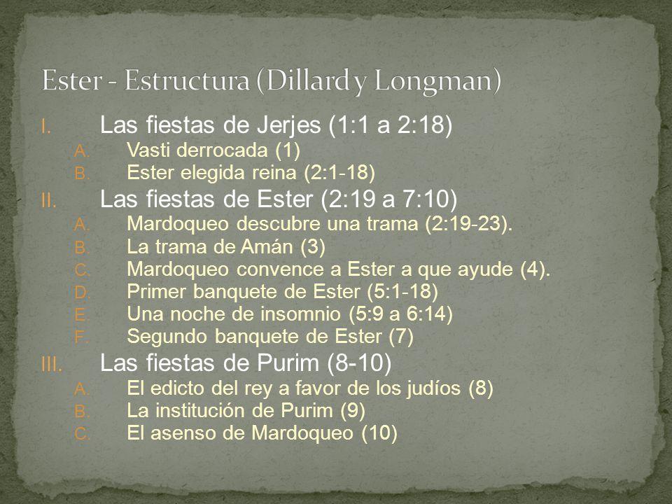 Ester - Estructura (Dillard y Longman)