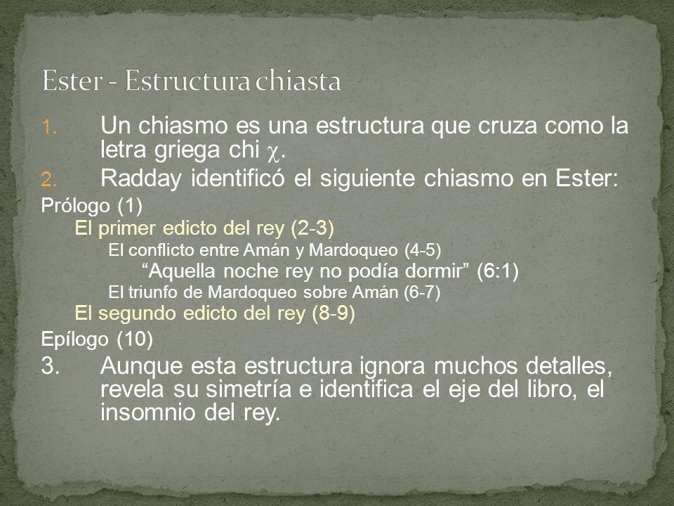 Ester - Estructura chiasta