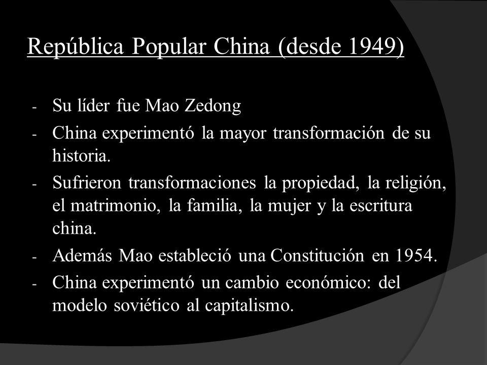 República Popular China (desde 1949)