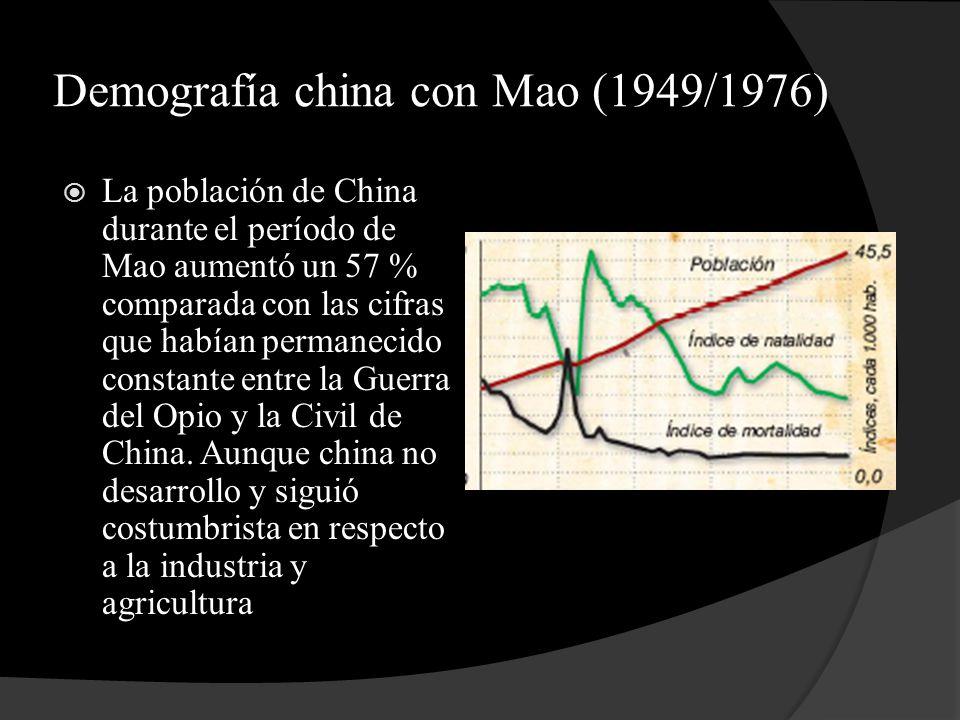 Demografía china con Mao (1949/1976)