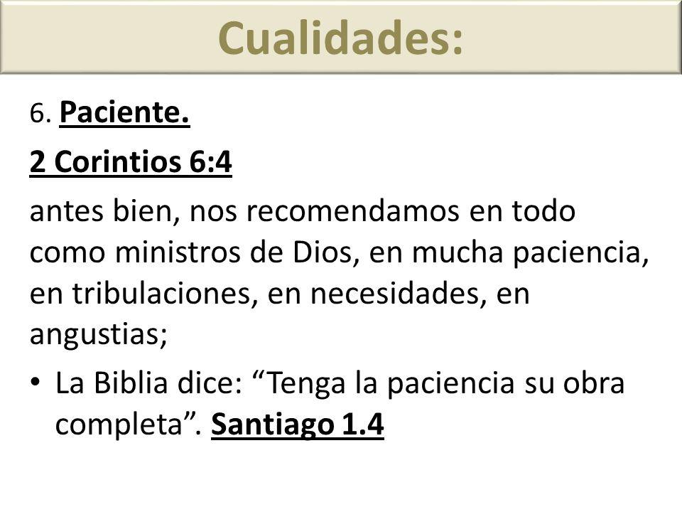 Cualidades: 2 Corintios 6:4