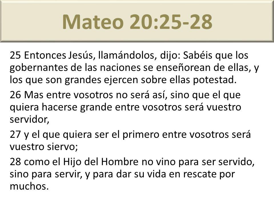 Mateo 20:25-28