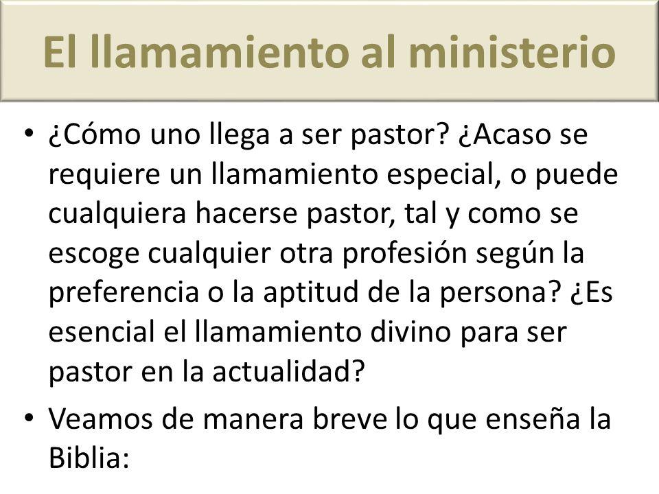 El llamamiento al ministerio