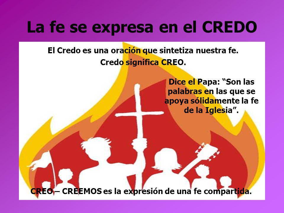 La fe se expresa en el CREDO