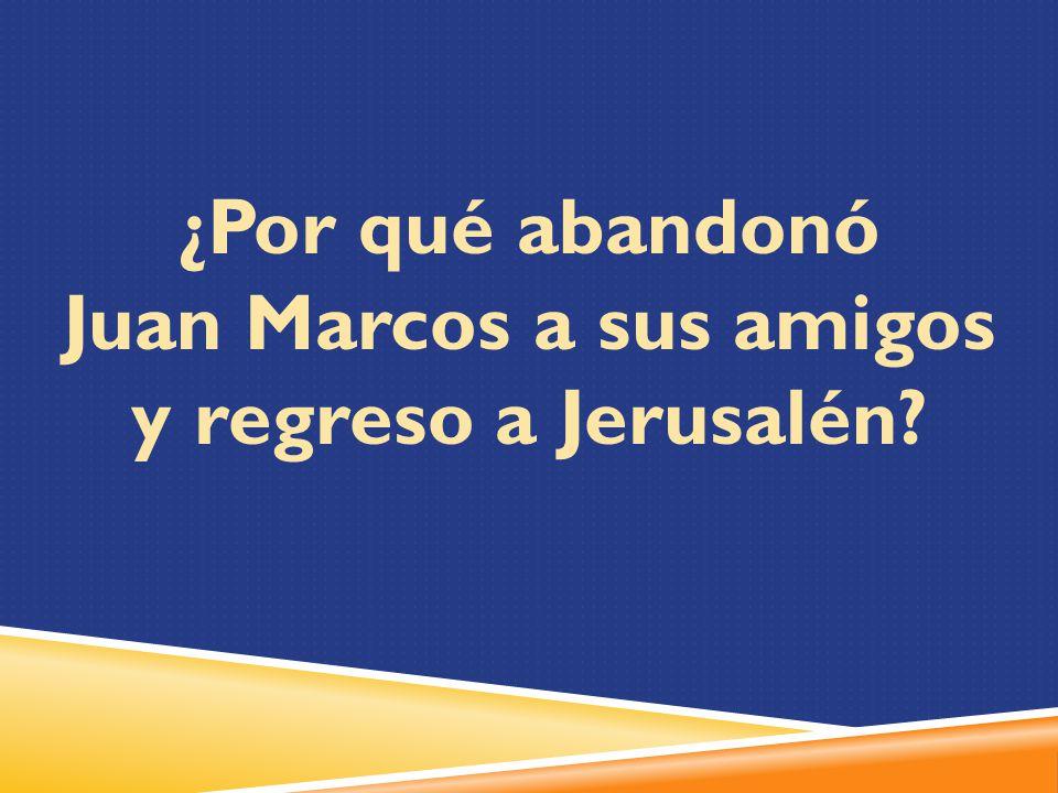 Juan Marcos a sus amigos