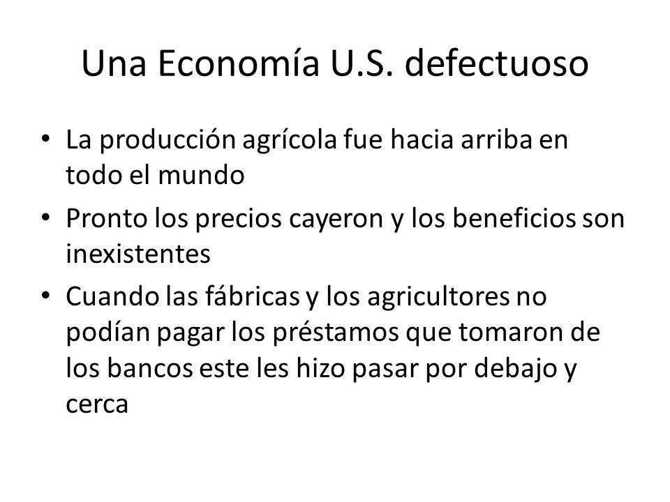 Una Economía U.S. defectuoso