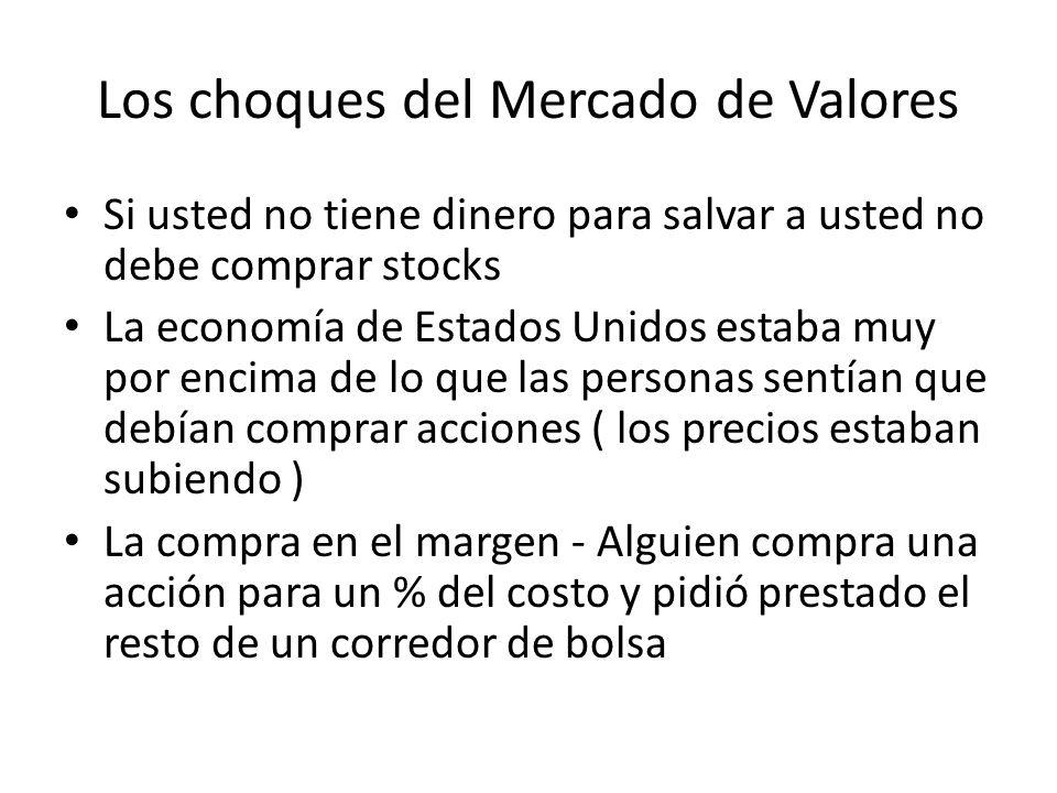 Los choques del Mercado de Valores