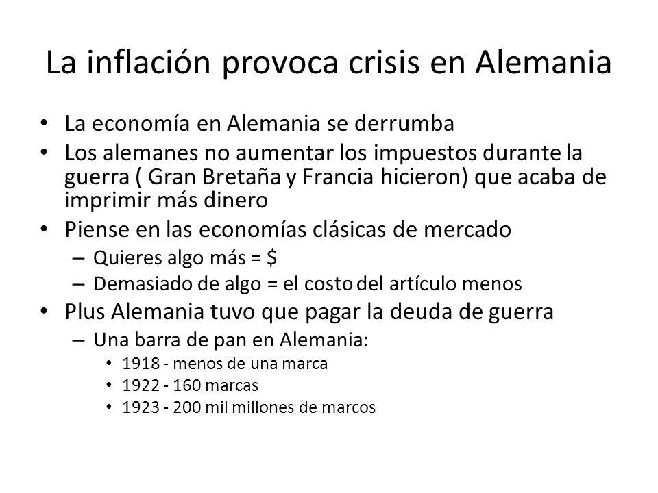 La inflación provoca crisis en Alemania
