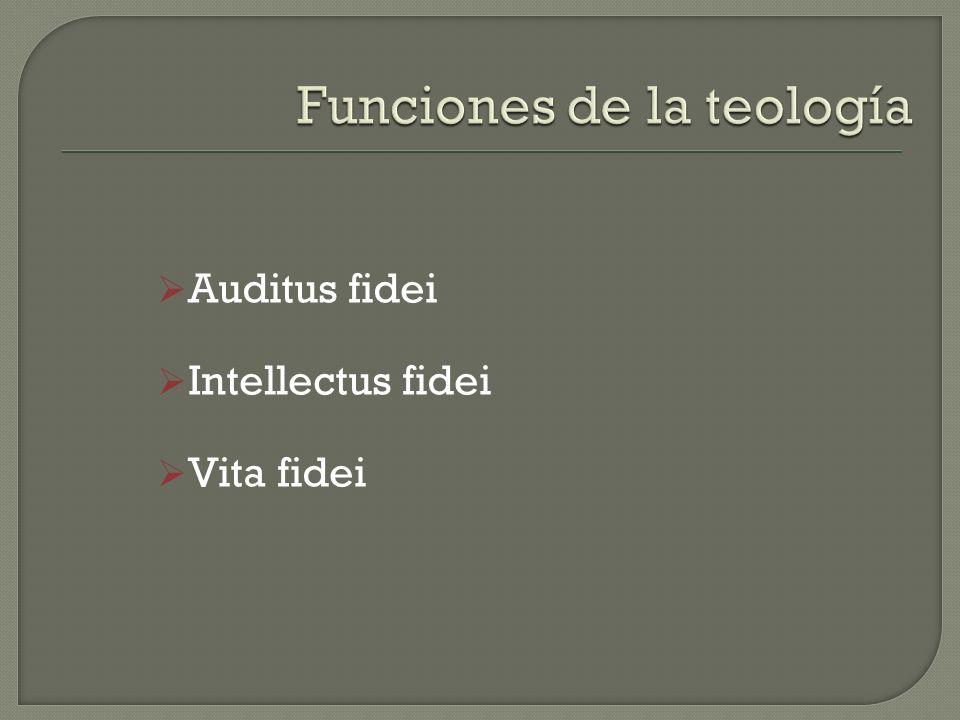Funciones de la teología