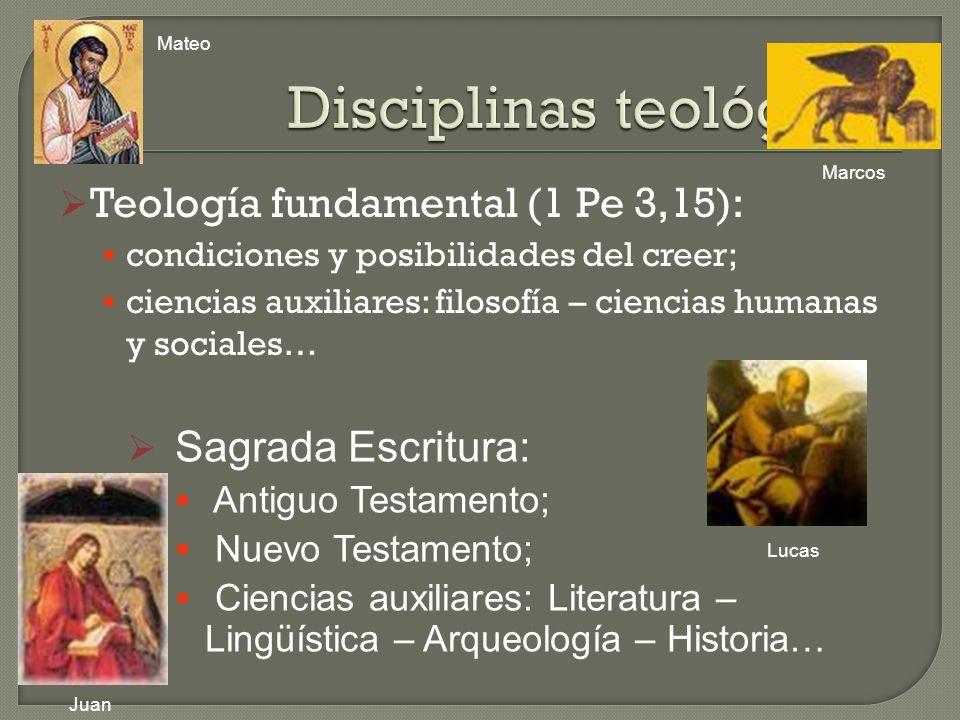 Disciplinas teológicas