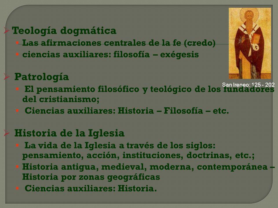 Teología dogmática Patrología Historia de la Iglesia