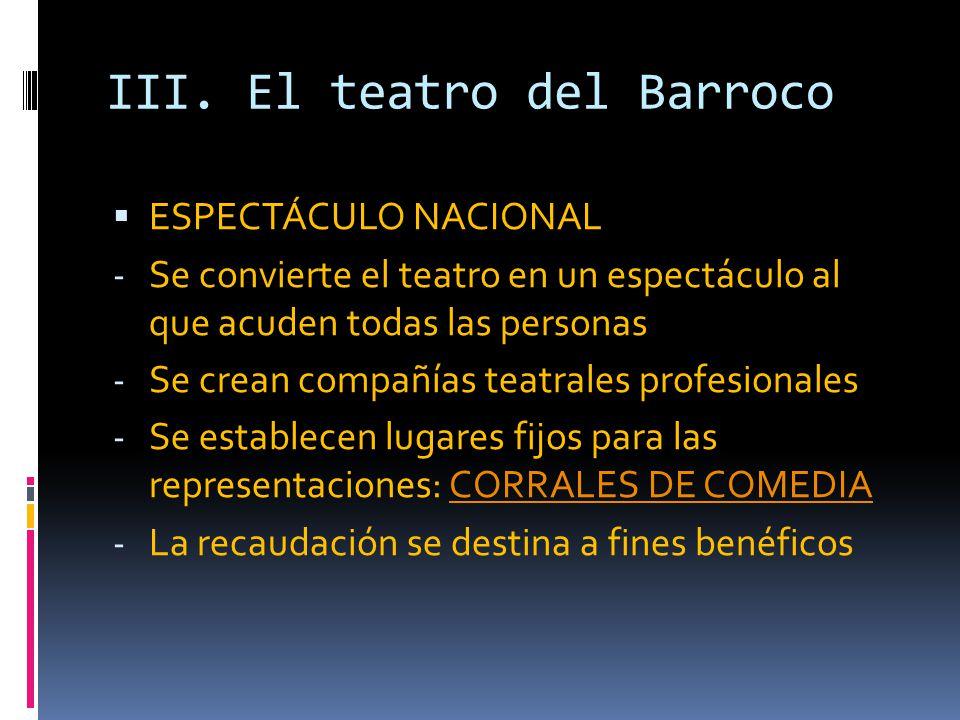 III. El teatro del Barroco