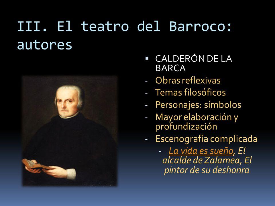 III. El teatro del Barroco: autores