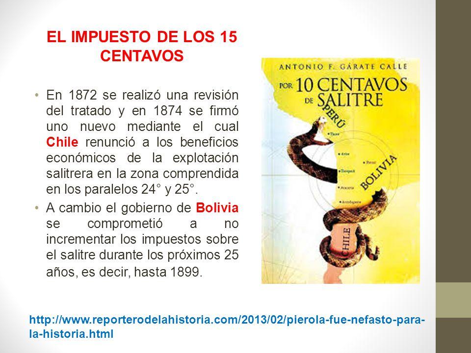 EL IMPUESTO DE LOS 15 CENTAVOS
