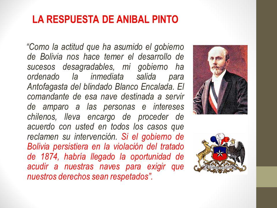 LA RESPUESTA DE ANIBAL PINTO