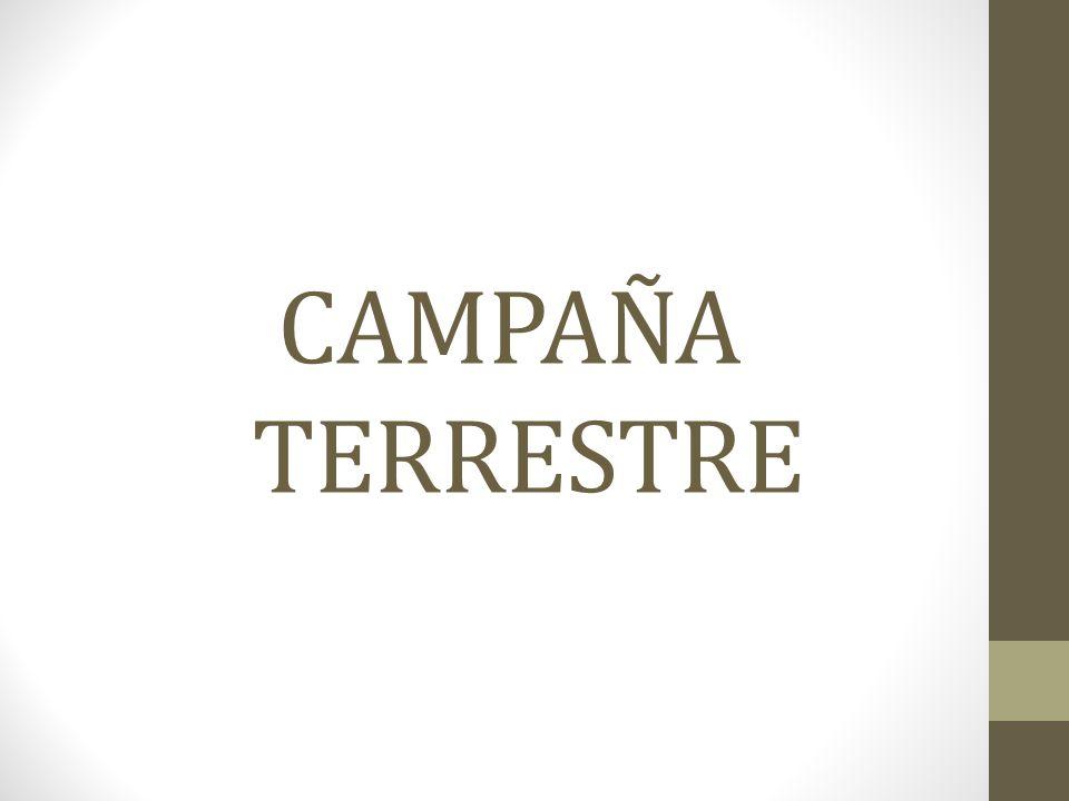 CAMPAÑA TERRESTRE