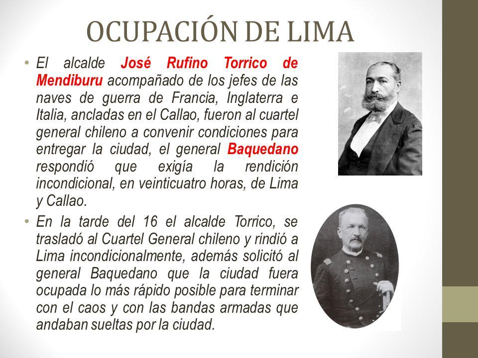 OCUPACIÓN DE LIMA