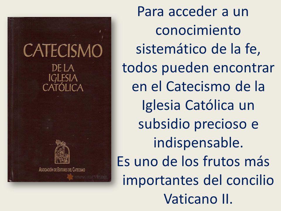 Es uno de los frutos más importantes del concilio Vaticano II.