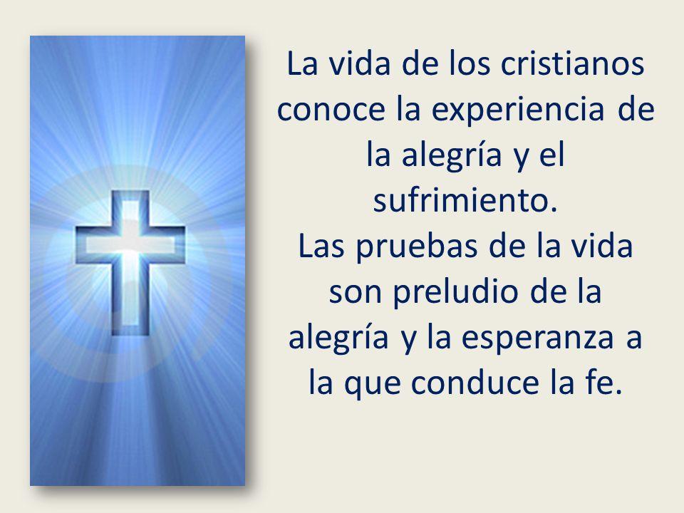 La vida de los cristianos conoce la experiencia de la alegría y el sufrimiento.