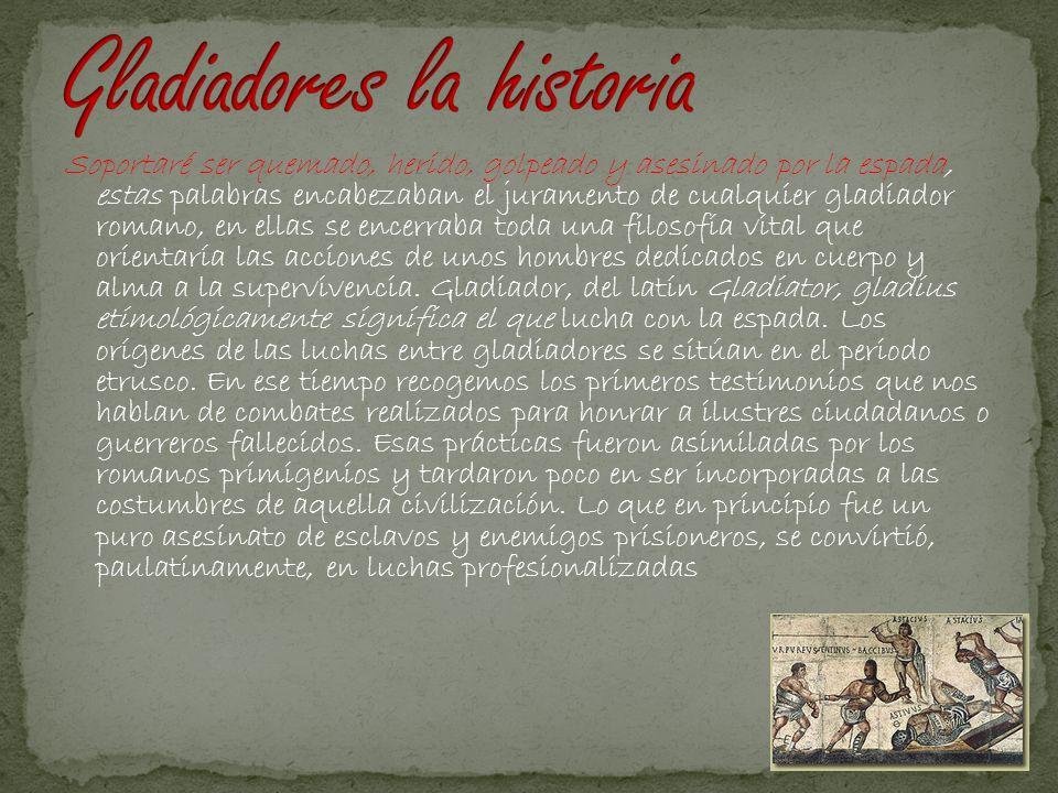 Gladiadores la historia
