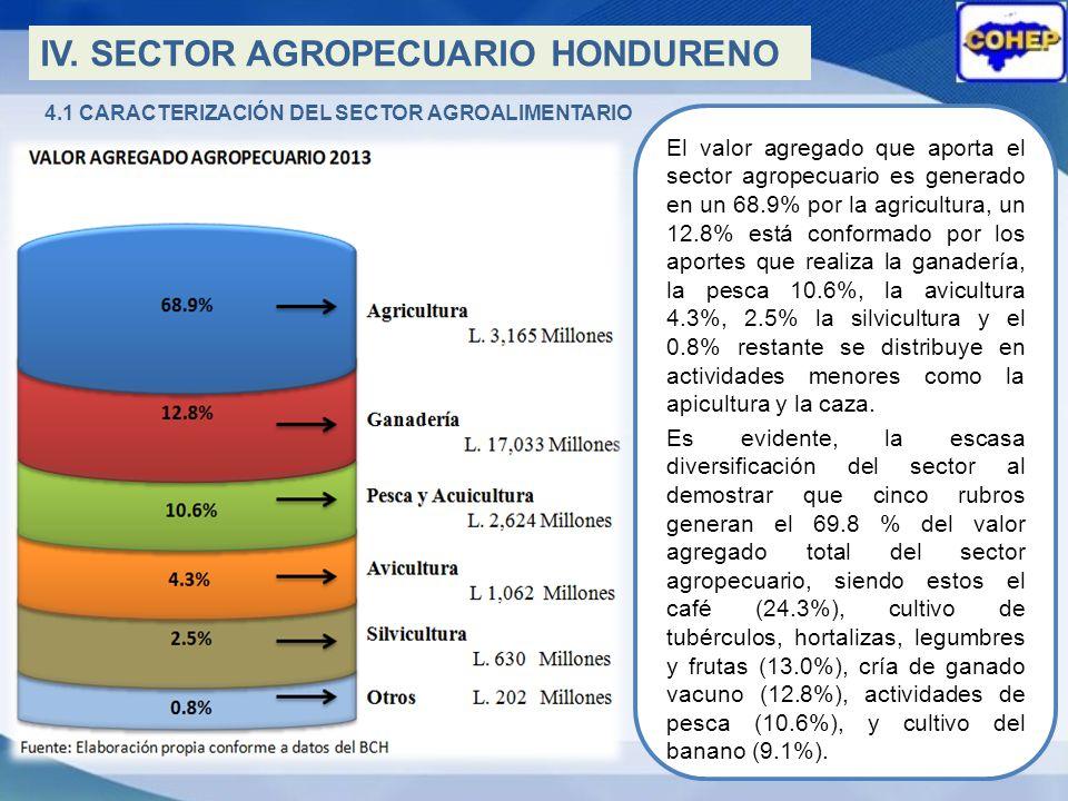 4.1 CARACTERIZACIÓN DEL SECTOR AGROALIMENTARIO