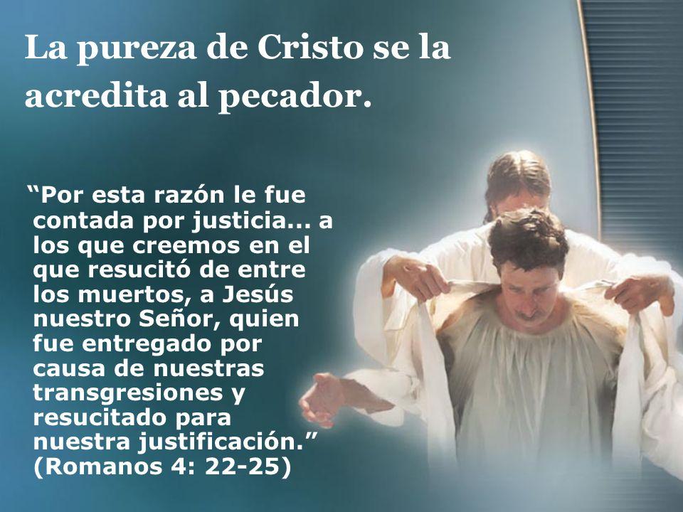 La pureza de Cristo se la acredita al pecador.
