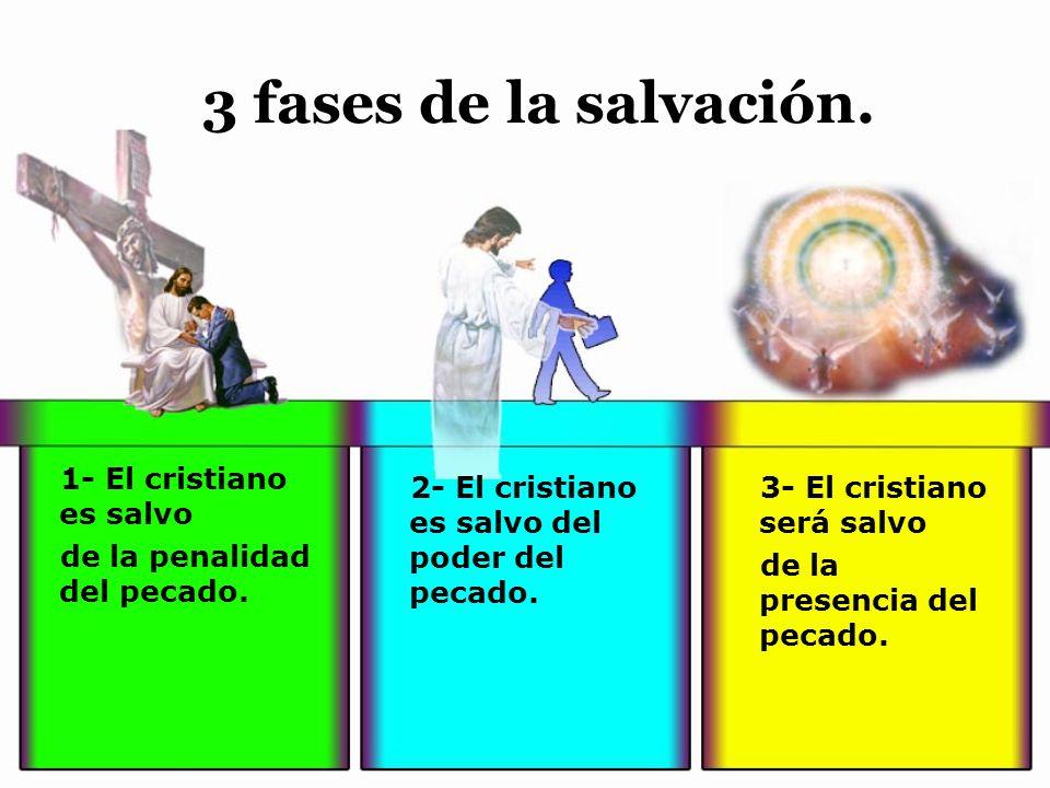 3 fases de la salvación. 1- El cristiano es salvo