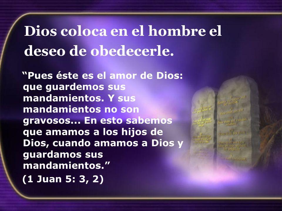 Dios coloca en el hombre el deseo de obedecerle.