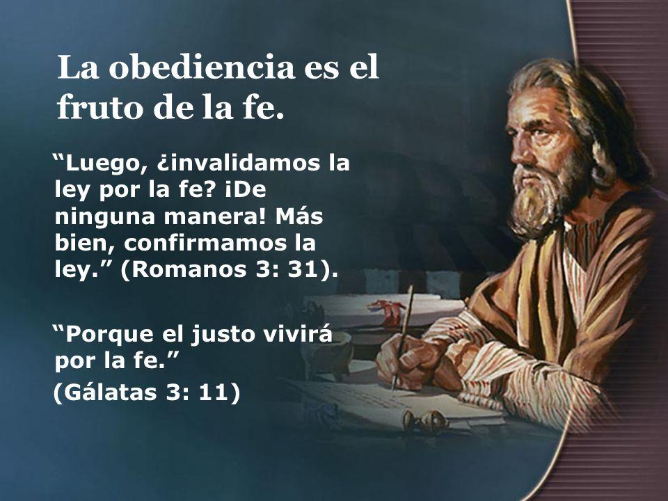La obediencia es el fruto de la fe.