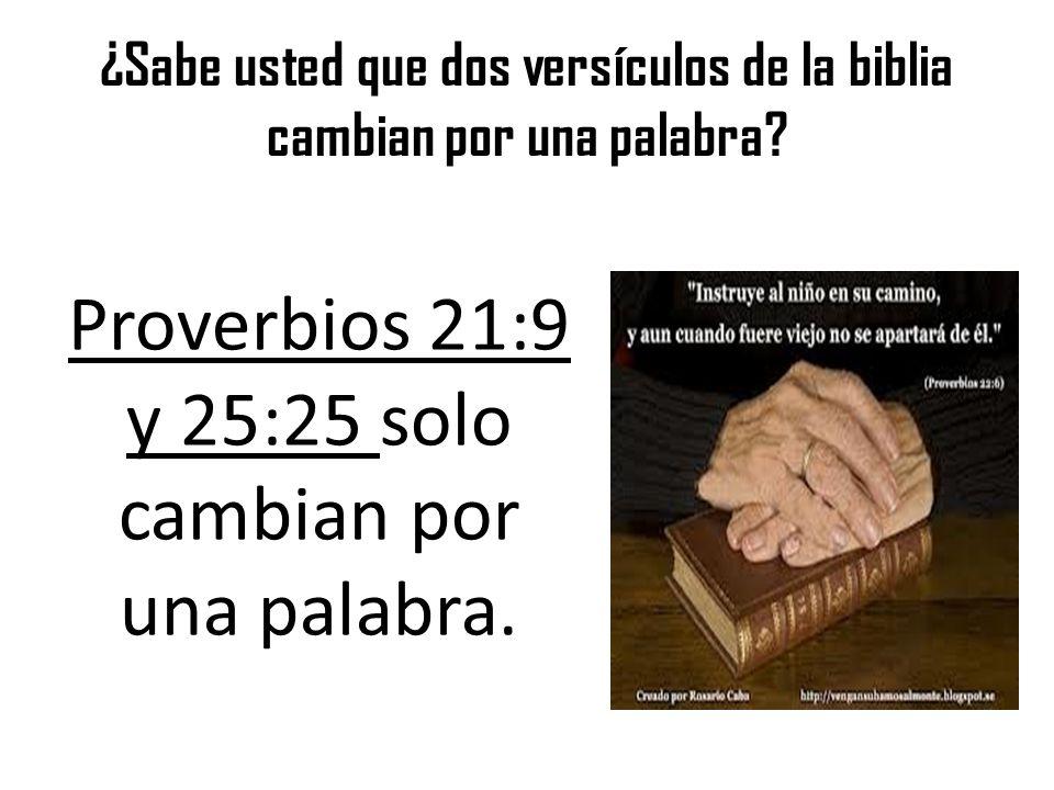 ¿Sabe usted que dos versículos de la biblia cambian por una palabra