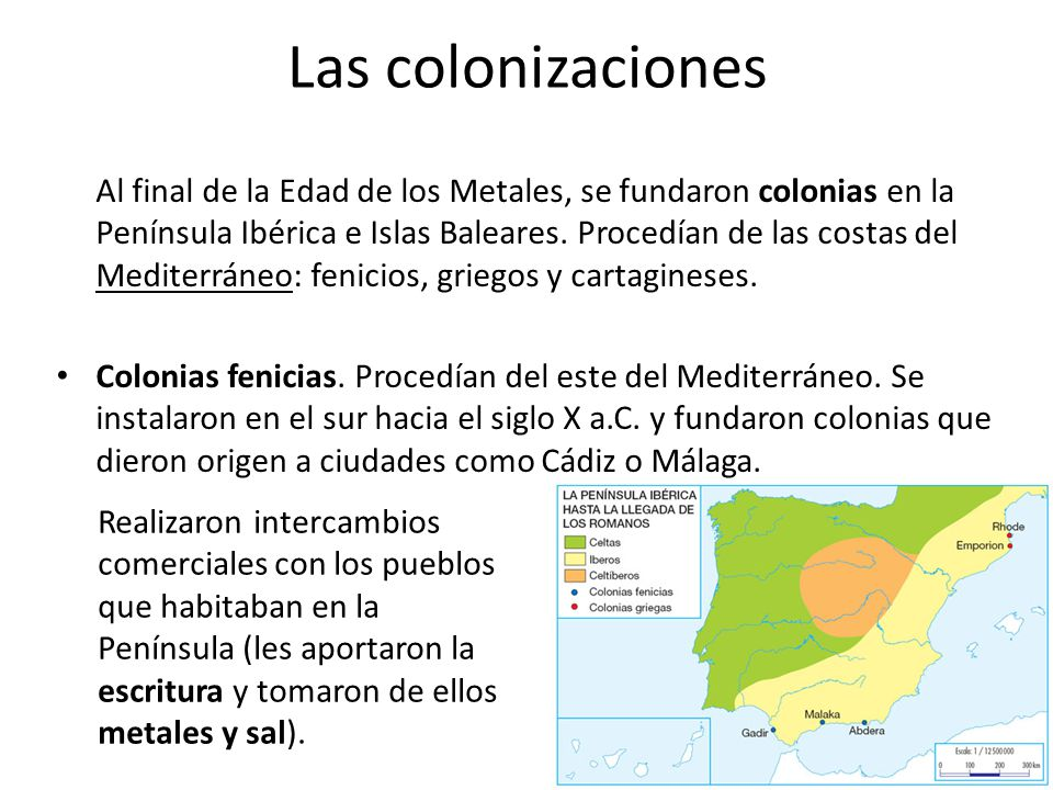 Las colonizaciones