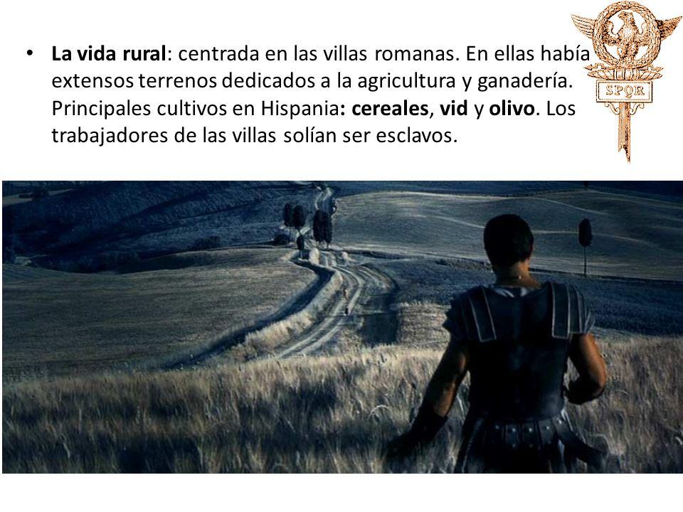 La vida rural: centrada en las villas romanas