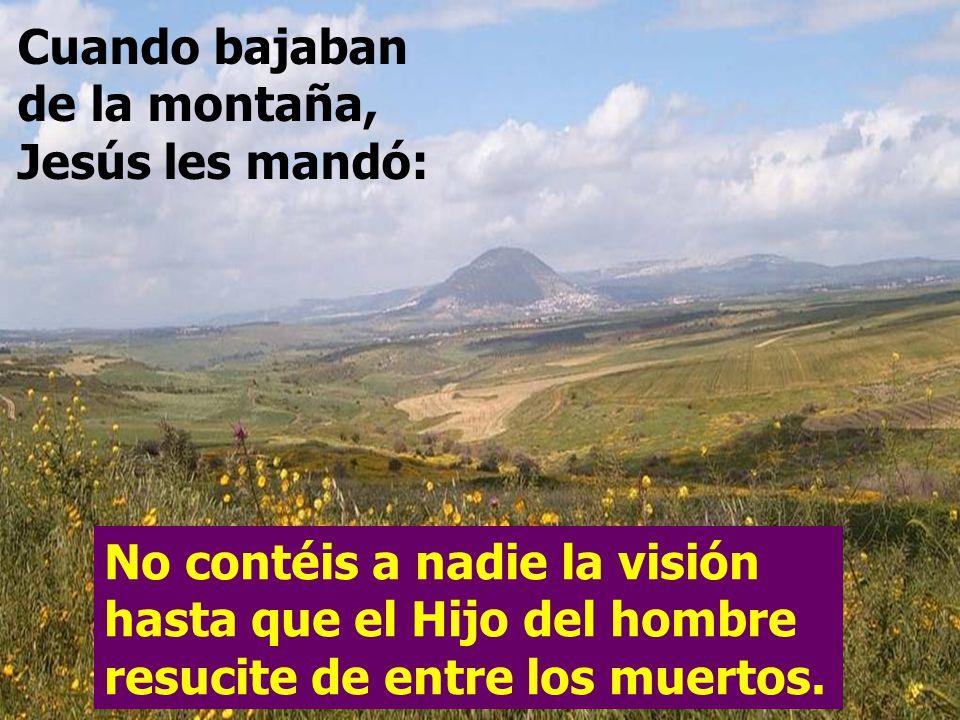 Cuando bajaban de la montaña, Jesús les mandó: