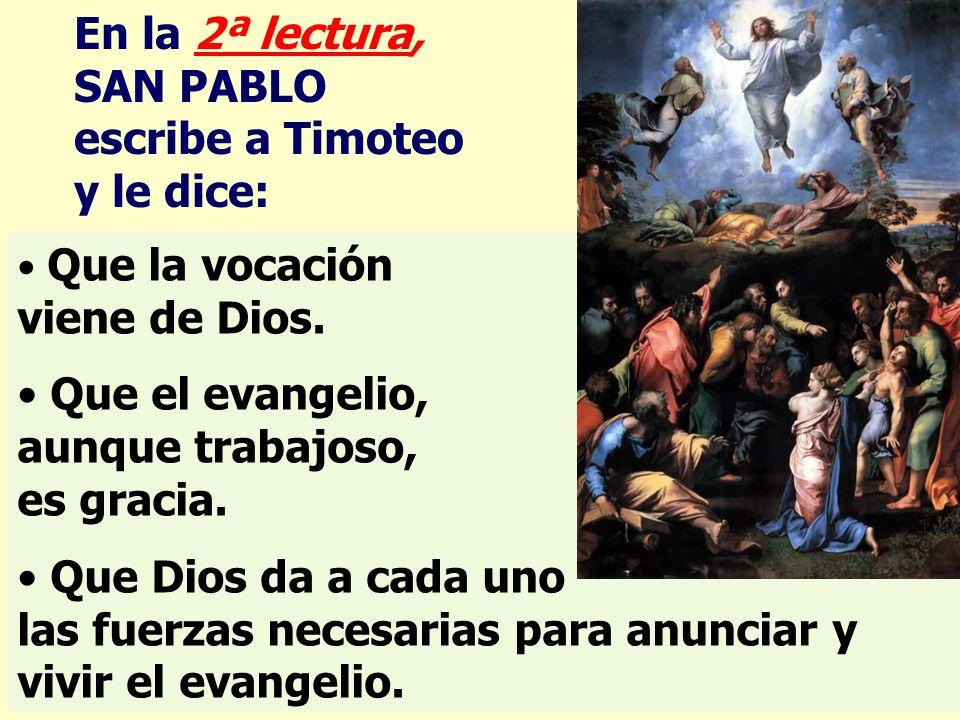 SAN PABLO escribe a Timoteo y le dice: