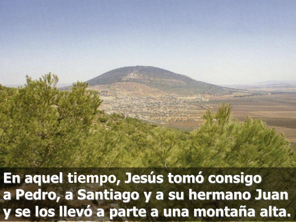 En aquel tiempo, Jesús tomó consigo a Pedro, a Santiago y a su hermano Juan y se los llevó a parte a una montaña alta.