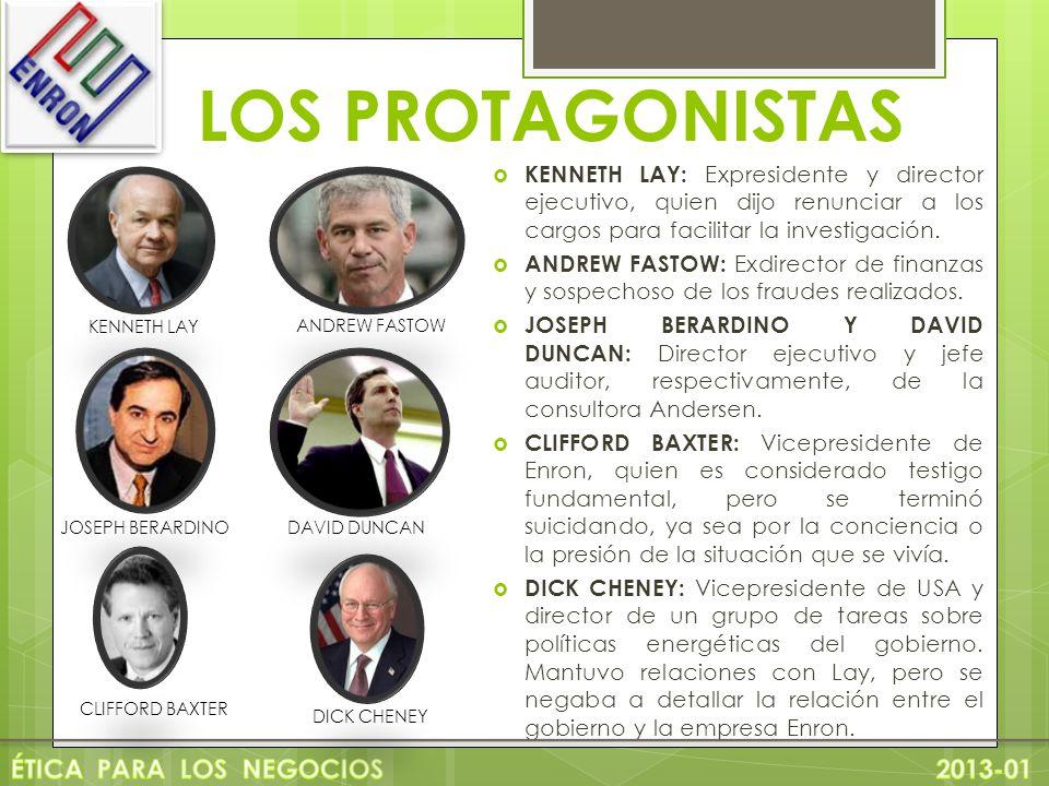 LOS PROTAGONISTAS ÉTICA PARA LOS NEGOCIOS 2013-01