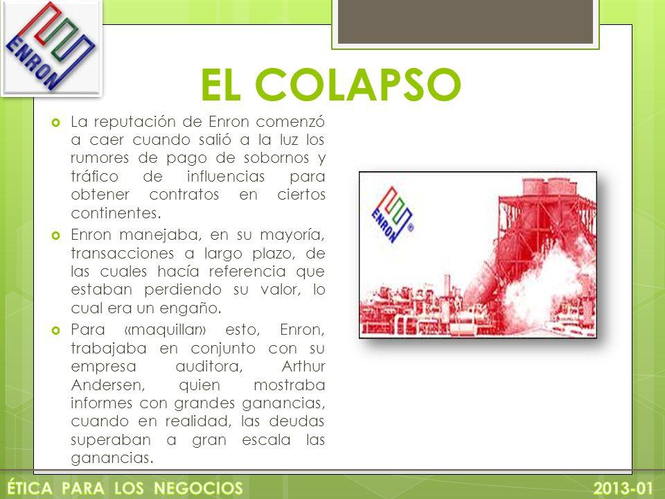 EL COLAPSO ÉTICA PARA LOS NEGOCIOS 2013-01