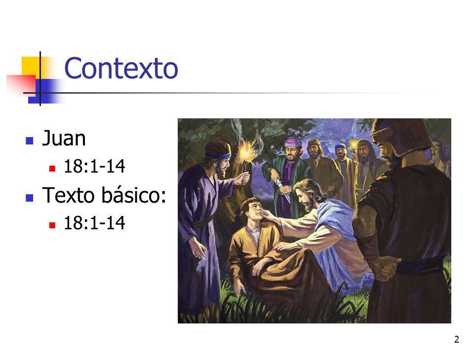 Contexto Juan 18:1-14 Texto básico: