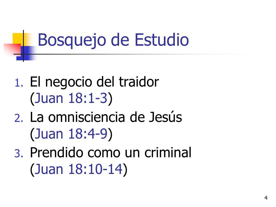 Bosquejo de Estudio El negocio del traidor (Juan 18:1-3)