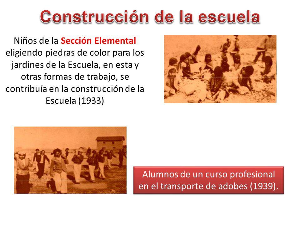 Construcción de la escuela