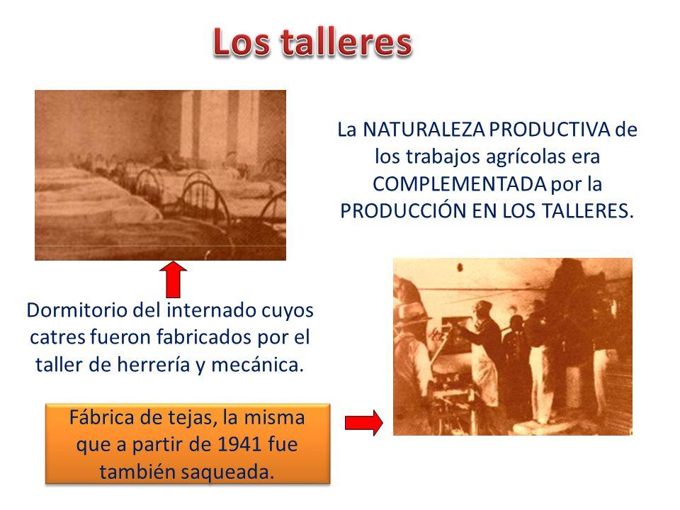 Fábrica de tejas, la misma que a partir de 1941 fue también saqueada.