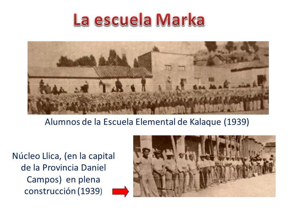 Alumnos de la Escuela Elemental de Kalaque (1939)