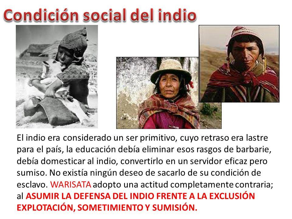 Condición social del indio